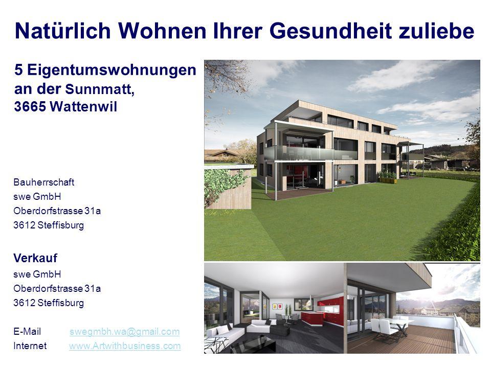 5 Eigentumswohnungen an der Sunnmatt, 3665 Wattenwil
