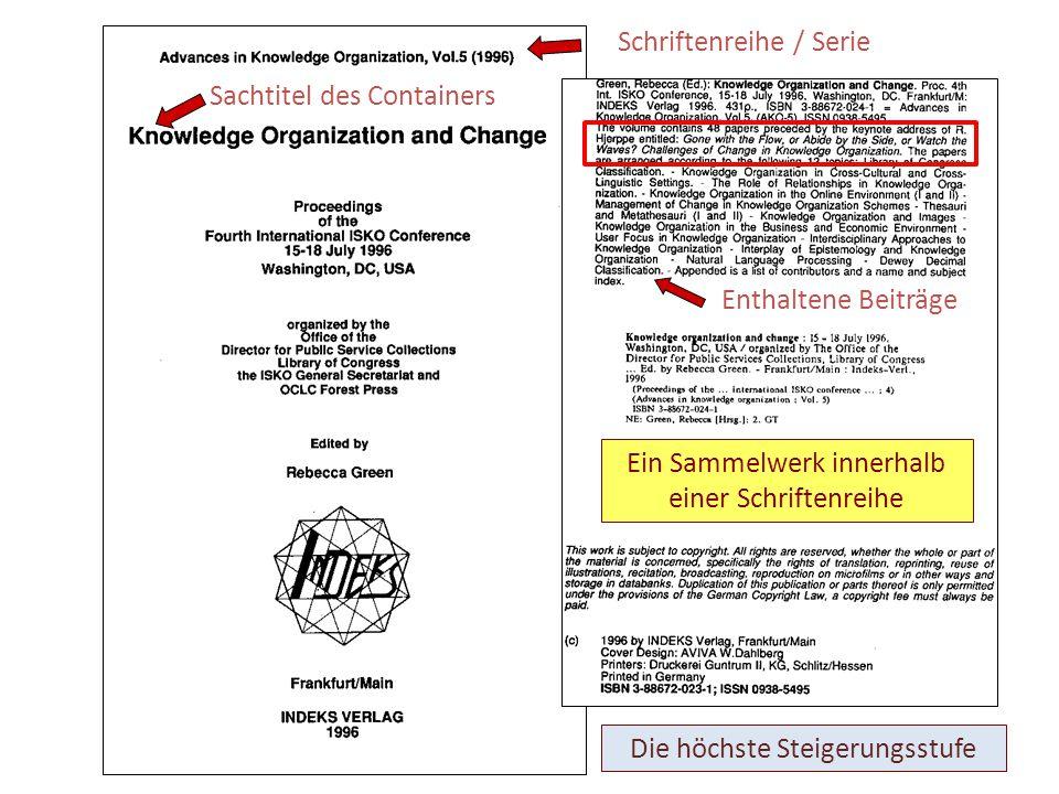 Schriftenreihe / Serie