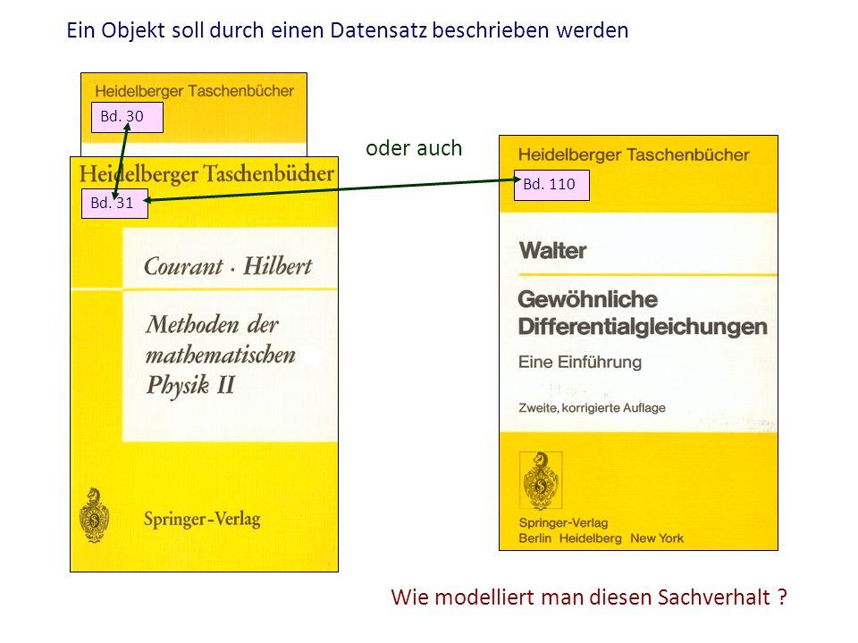 Ein Objekt soll durch einen Datensatz beschrieben werden