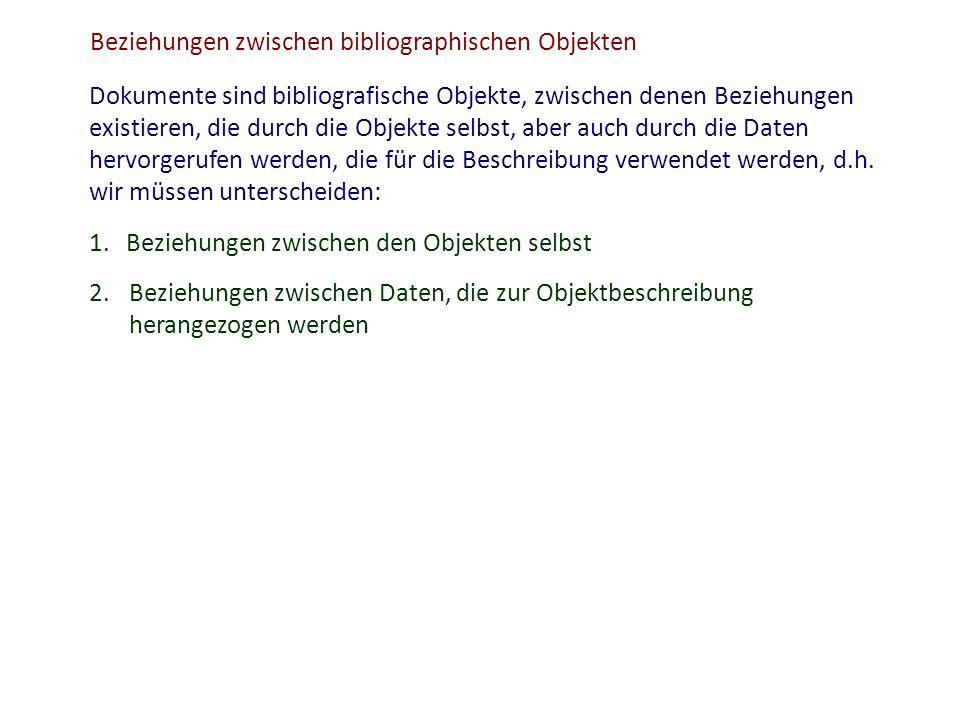 Beziehungen zwischen bibliographischen Objekten