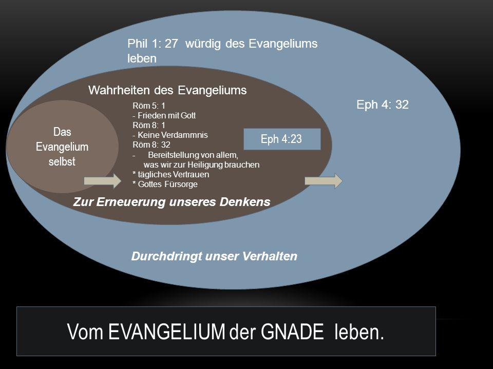 Vom EVANGELIUM der GNADE leben.