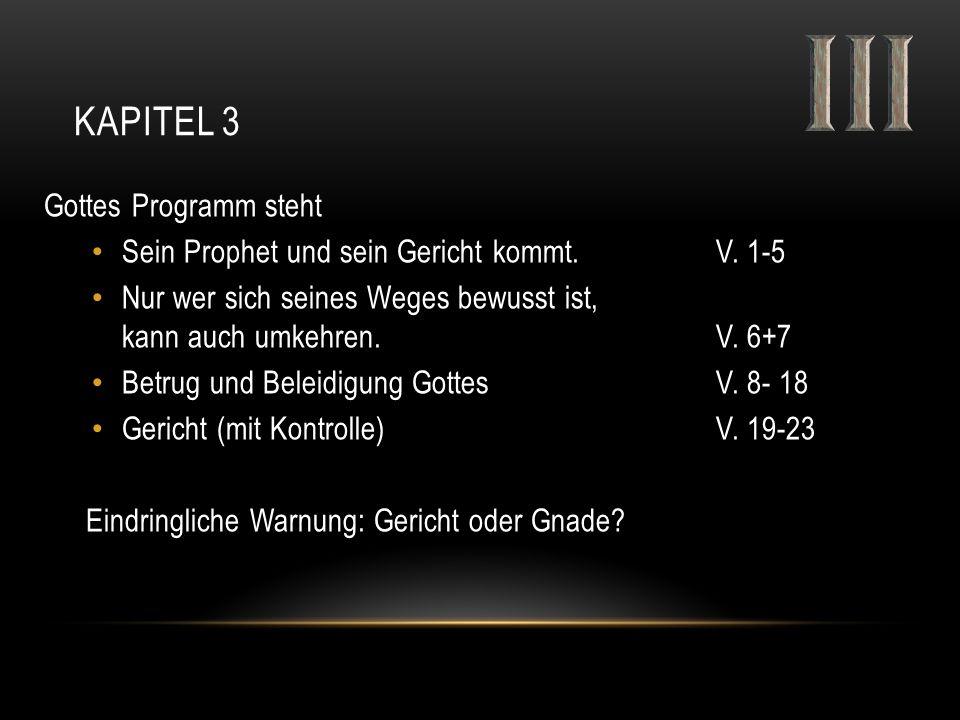 Kapitel 3 Gottes Programm steht