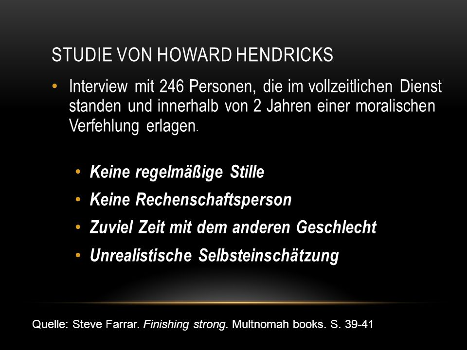Studie von Howard Hendricks