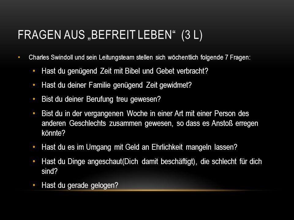 """Fragen aus """"Befreit leben (3 L)"""