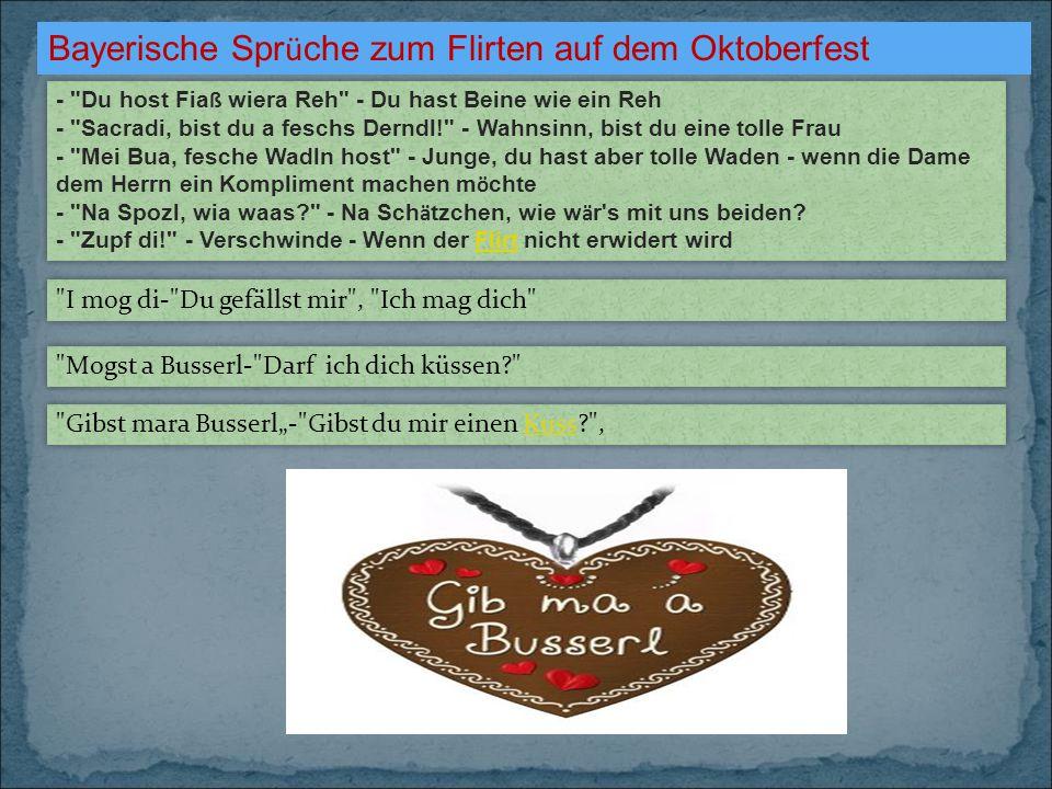 Bayerische Sprüche zum Flirten auf dem Oktoberfest