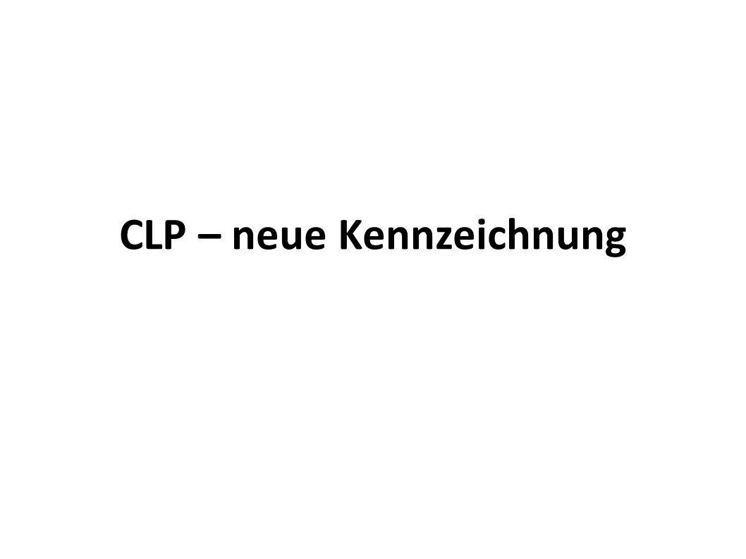 CLP – neue Kennzeichnung