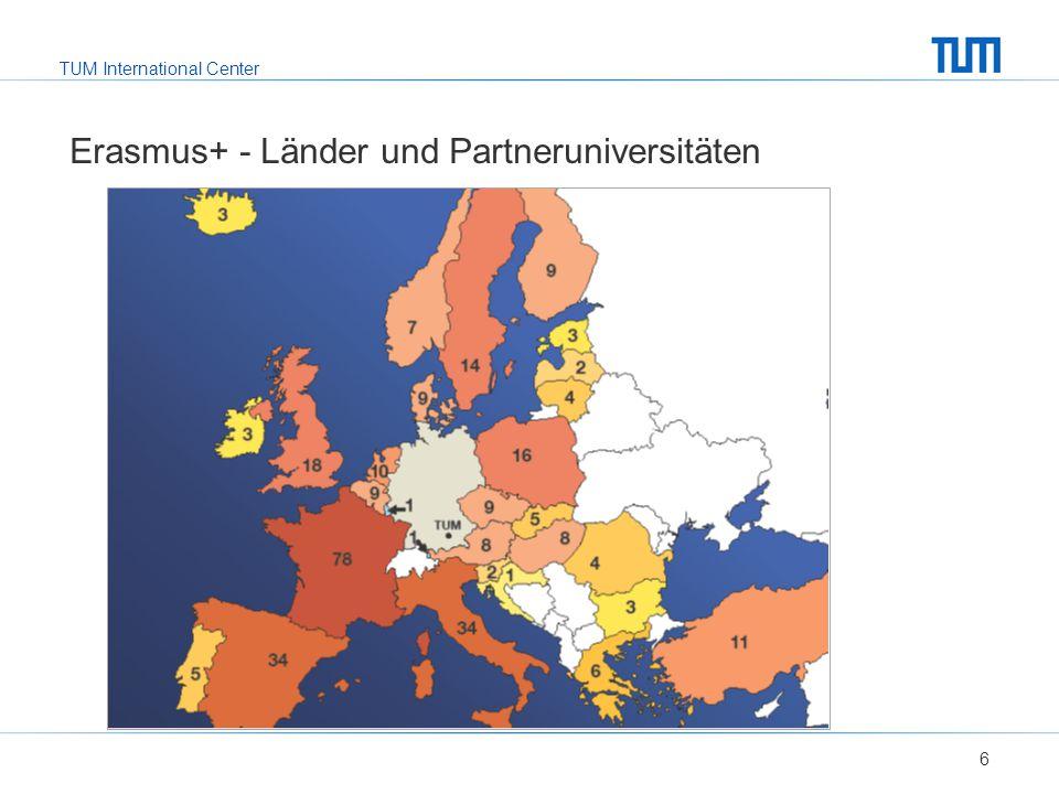 Erasmus+ - Länder und Partneruniversitäten