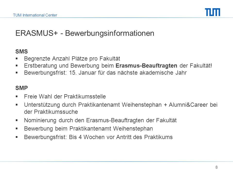 ERASMUS+ - Bewerbungsinformationen