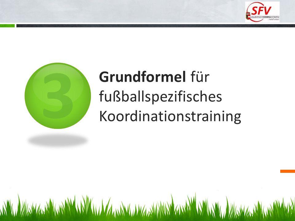 Grundformel für fußballspezifisches Koordinationstraining