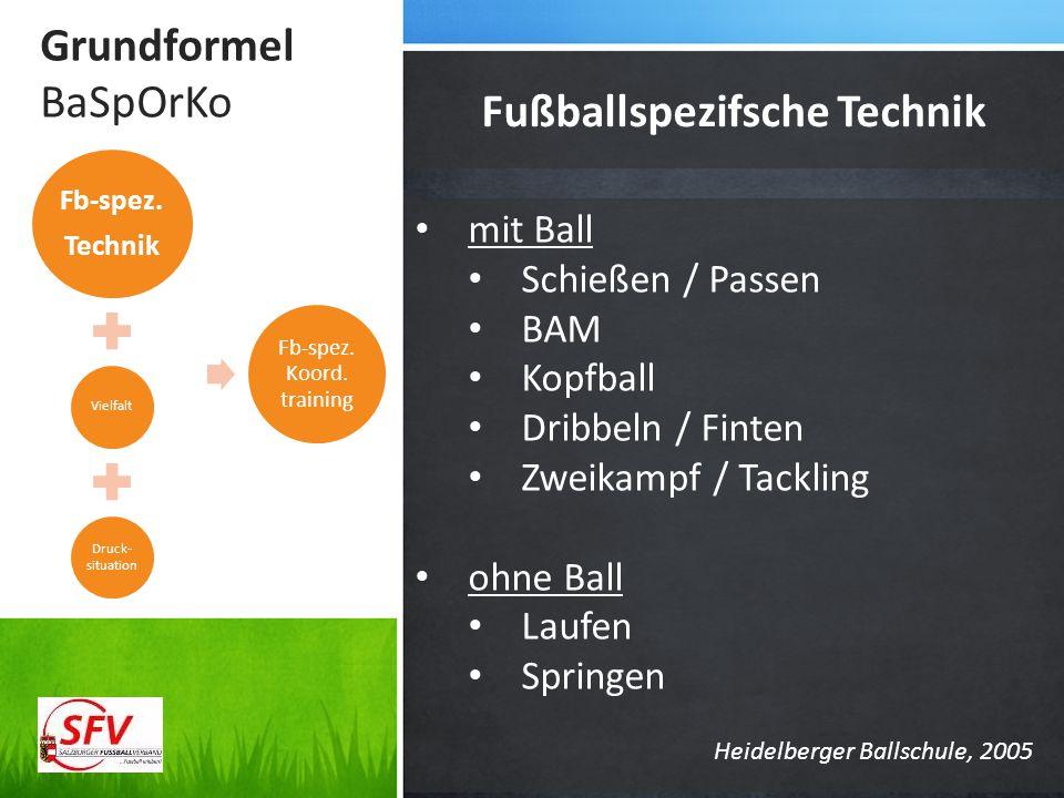 Fußballspezifsche Technik