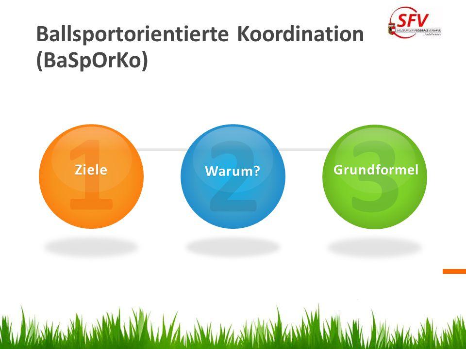 1 2 3 Ballsportorientierte Koordination (BaSpOrKo) Ziele Warum