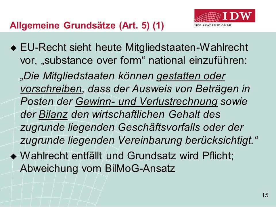 Allgemeine Grundsätze (Art. 5) (1)