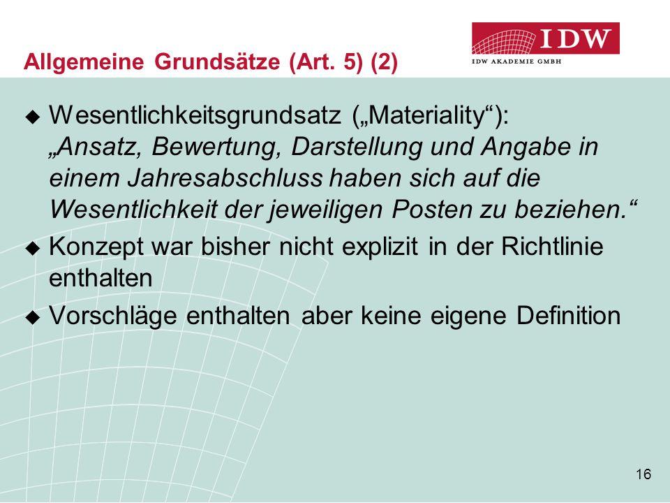 Allgemeine Grundsätze (Art. 5) (2)