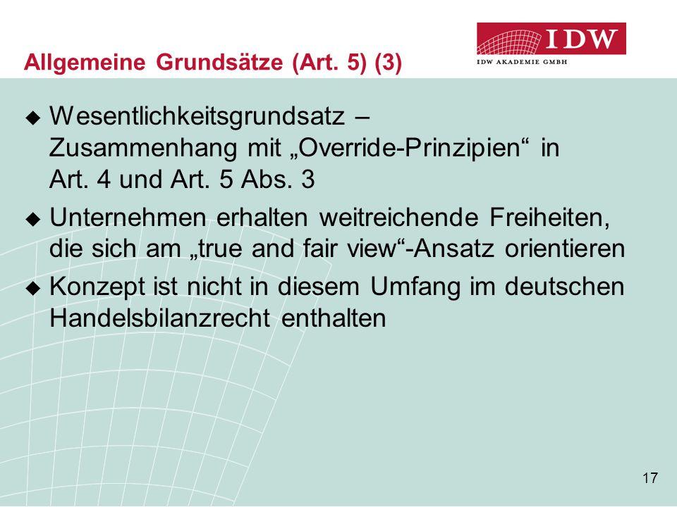 Allgemeine Grundsätze (Art. 5) (3)