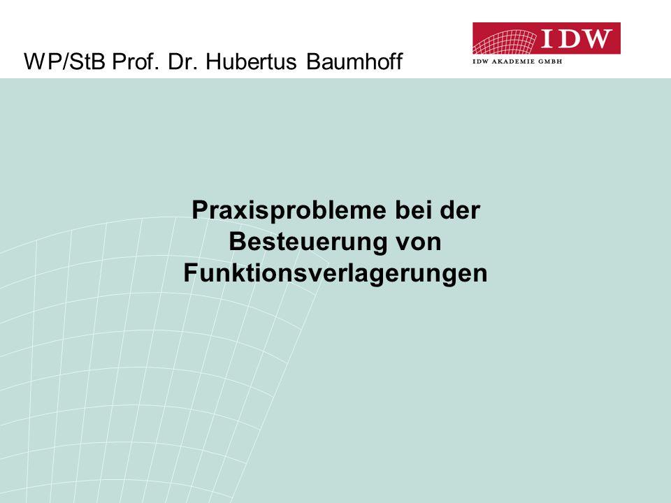 WP/StB Prof. Dr. Hubertus Baumhoff