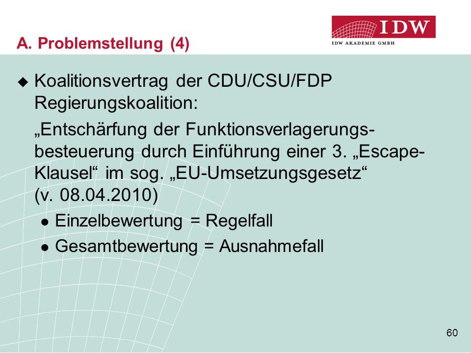 Koalitionsvertrag der CDU/CSU/FDP Regierungskoalition:
