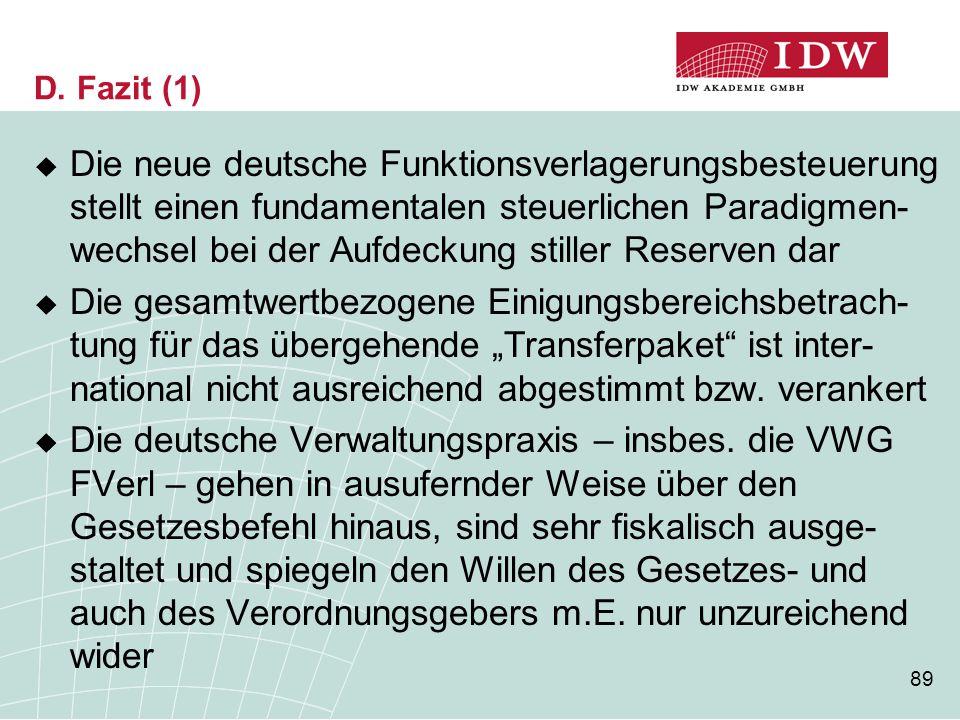 D. Fazit (1)