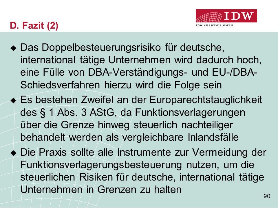 D. Fazit (2)