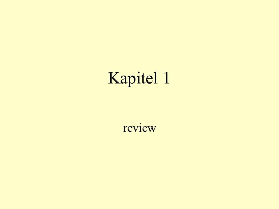 Kapitel 1 review