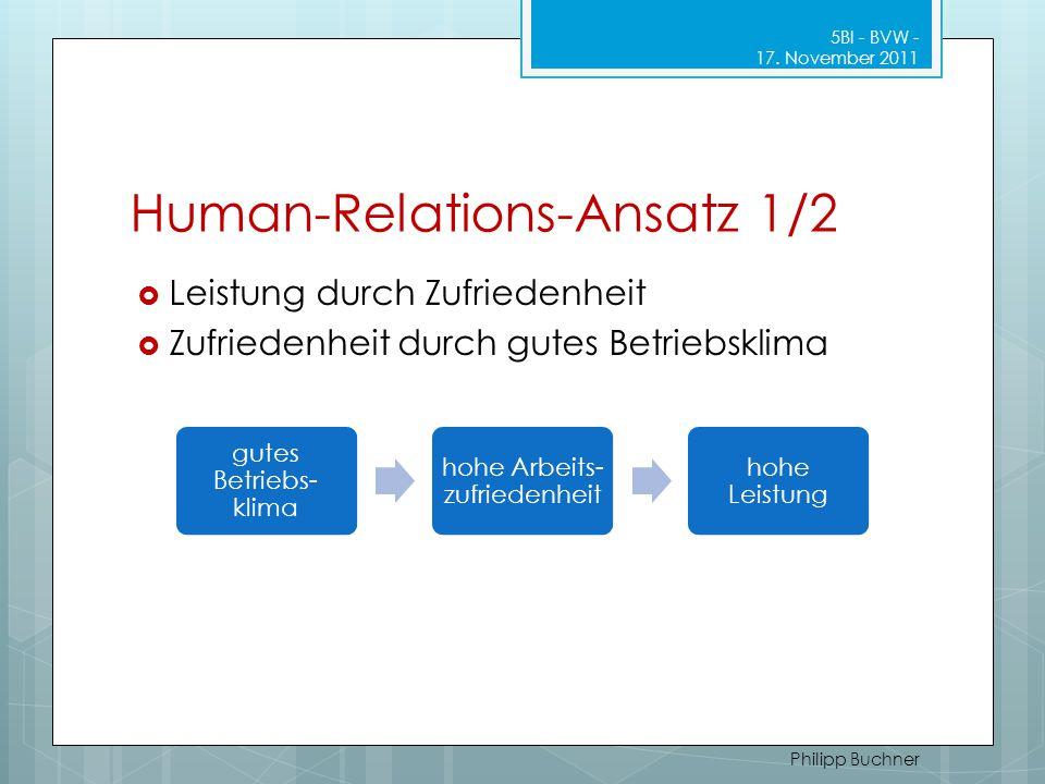 Human-Relations-Ansatz 1/2