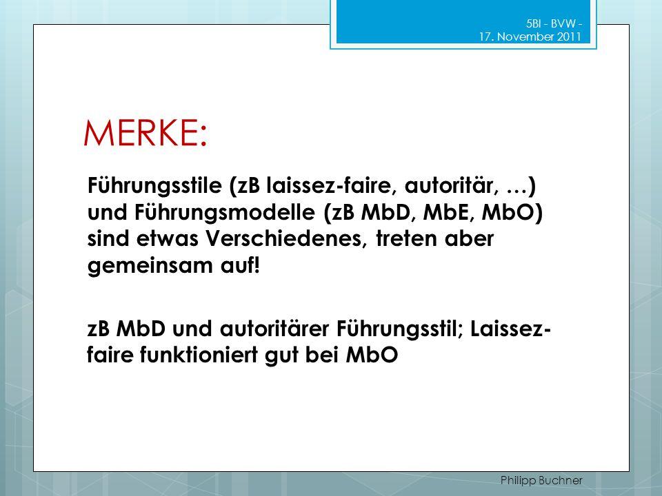 5BI - BVW - 17. November 2011 MERKE: