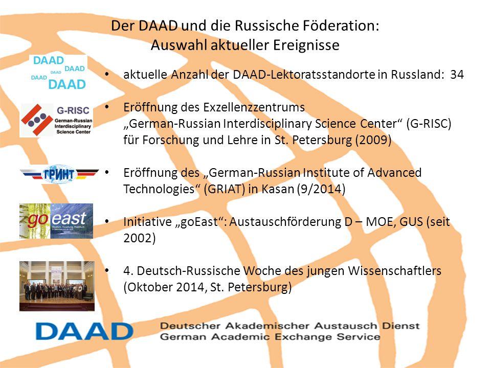 Der DAAD und die Russische Föderation: Auswahl aktueller Ereignisse