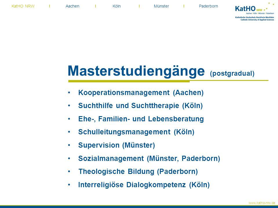 Masterstudiengänge (postgradual)
