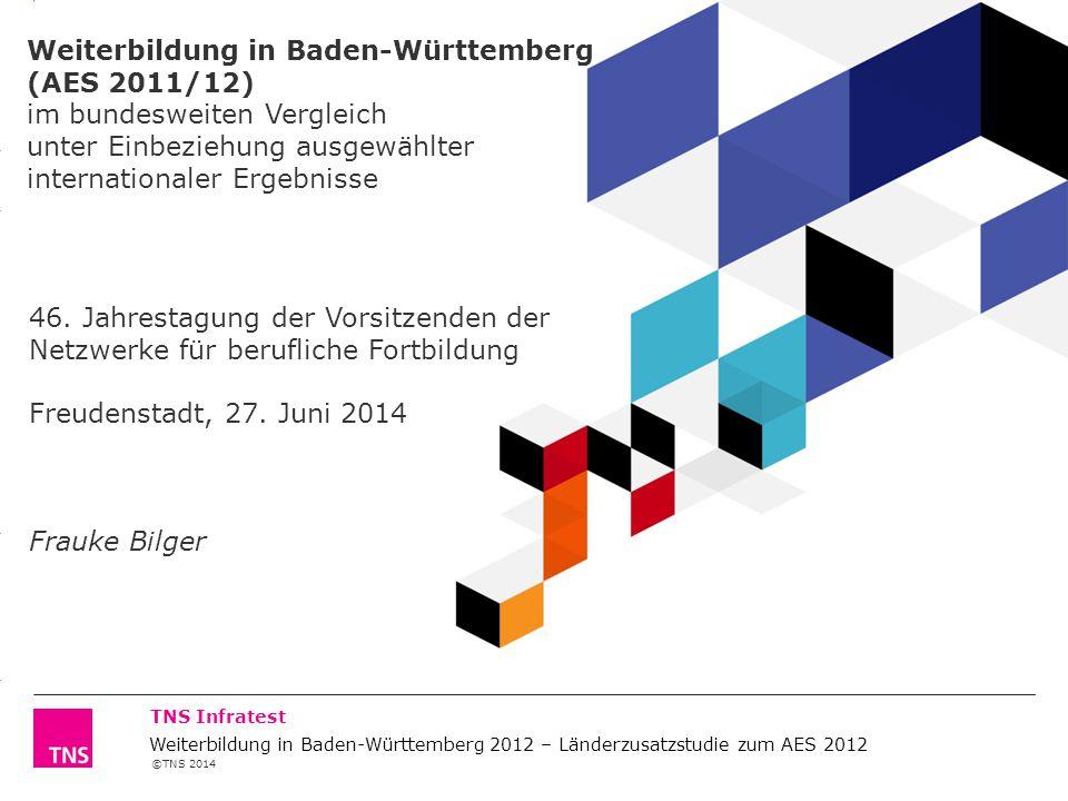 Weiterbildung in Baden-Württemberg (AES 2011/12) im bundesweiten Vergleich unter Einbeziehung ausgewählter internationaler Ergebnisse