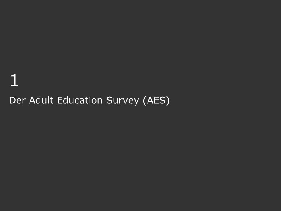 Der Adult Education Survey (AES)