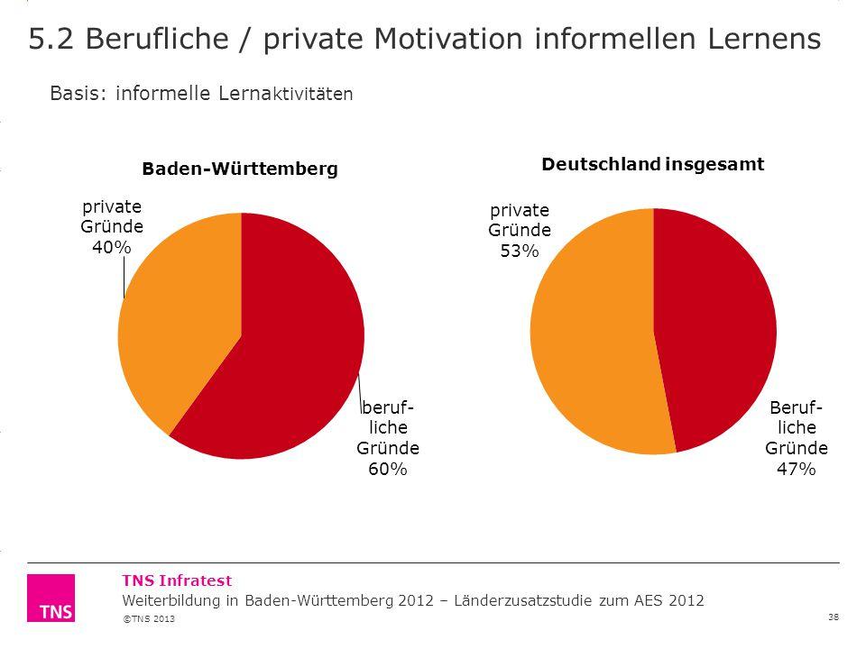5.2 Berufliche / private Motivation informellen Lernens