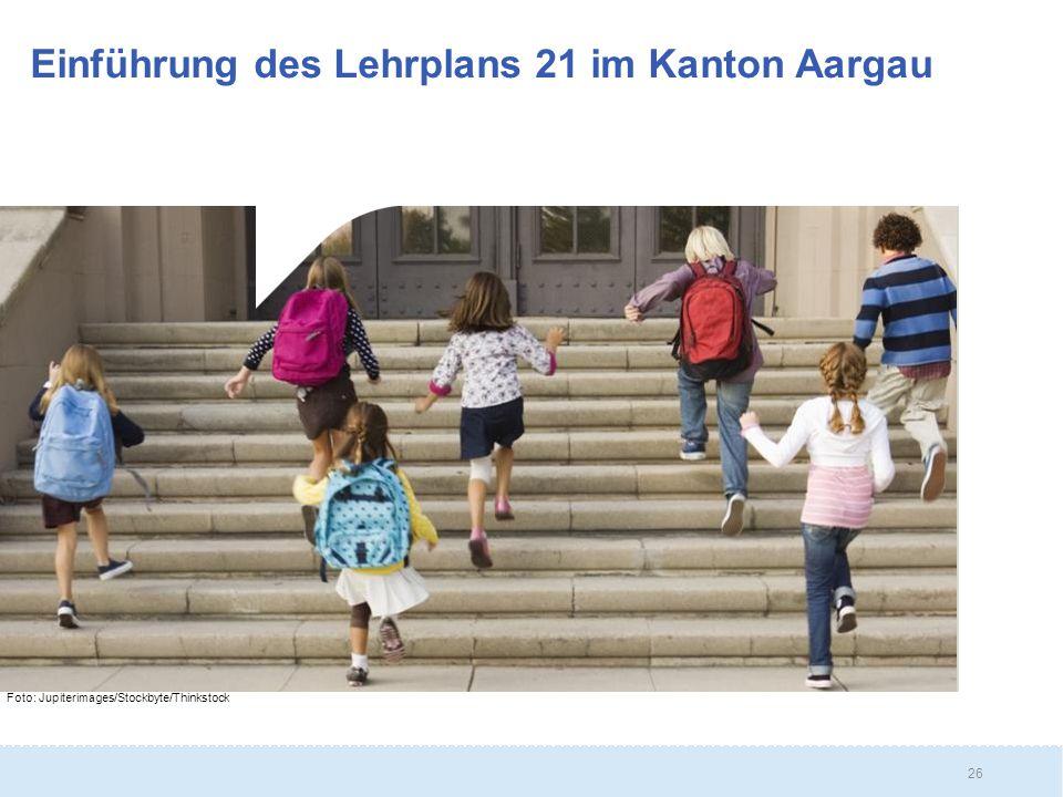 Einführung des Lehrplans 21 im Kanton Aargau