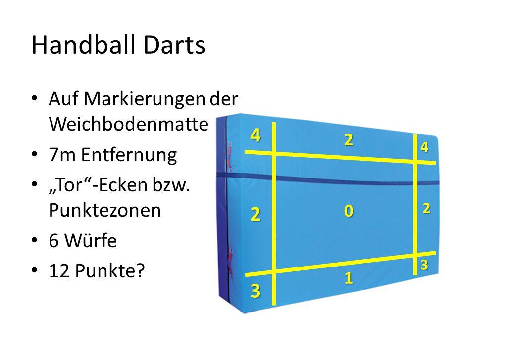 Handball Darts Auf Markierungen der Weichbodenmatte 7m Entfernung 4