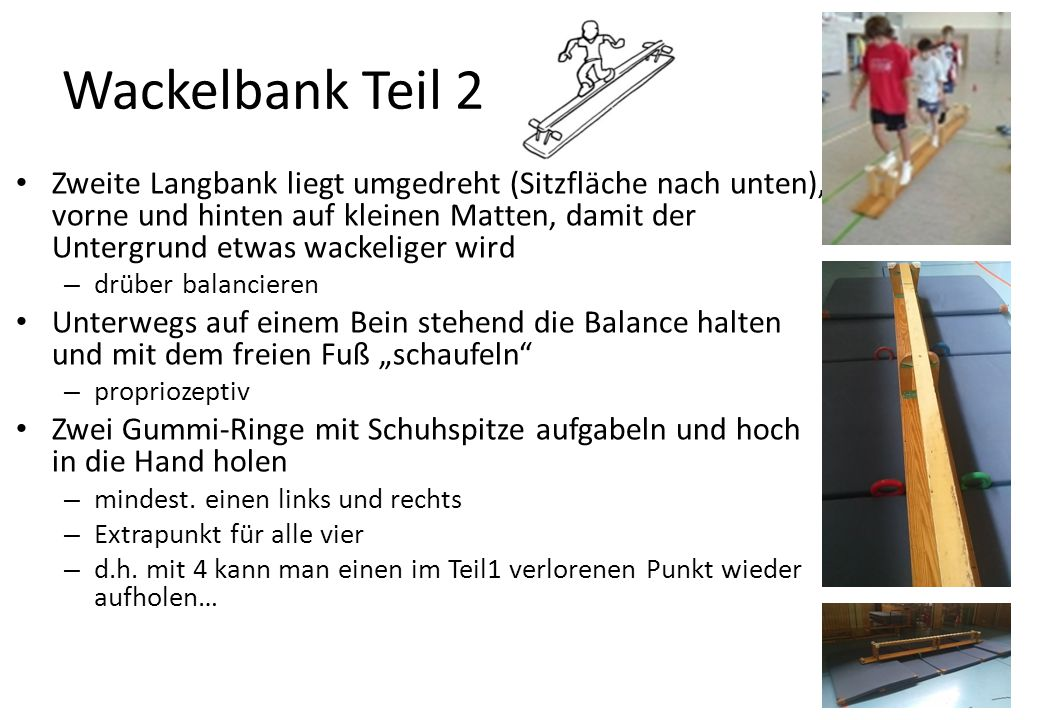 Wackelbank Teil 2