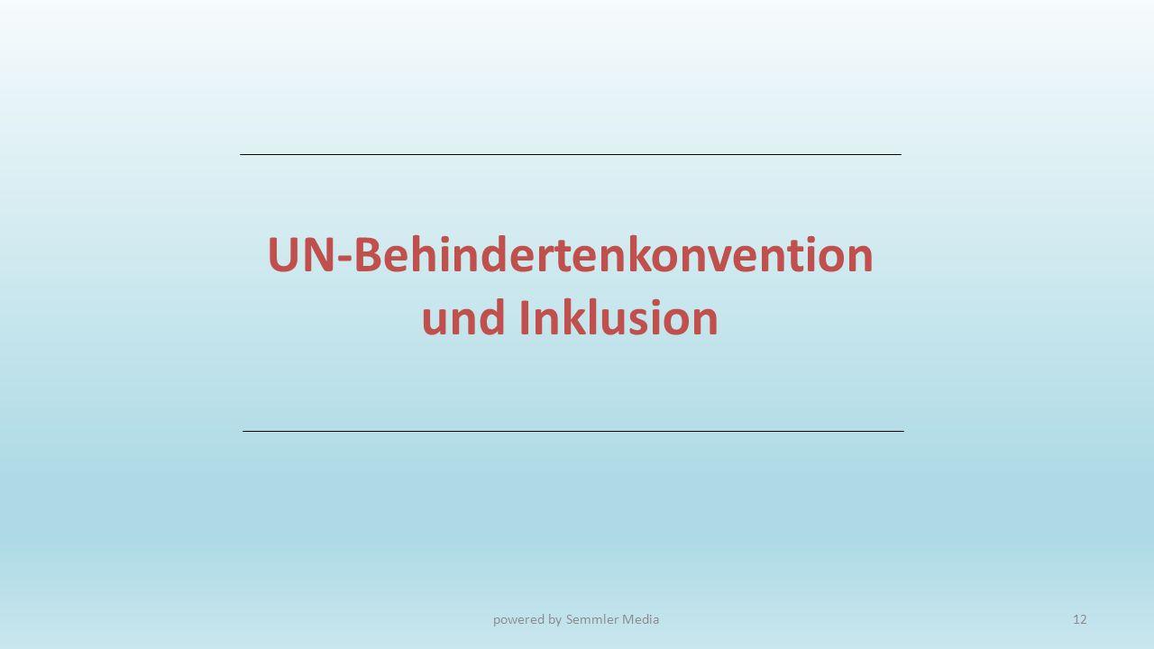 UN-Behindertenkonvention und Inklusion
