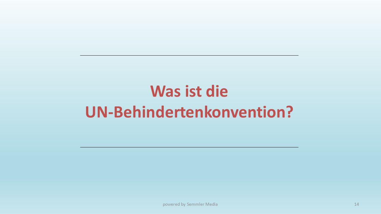 Was ist die UN-Behindertenkonvention