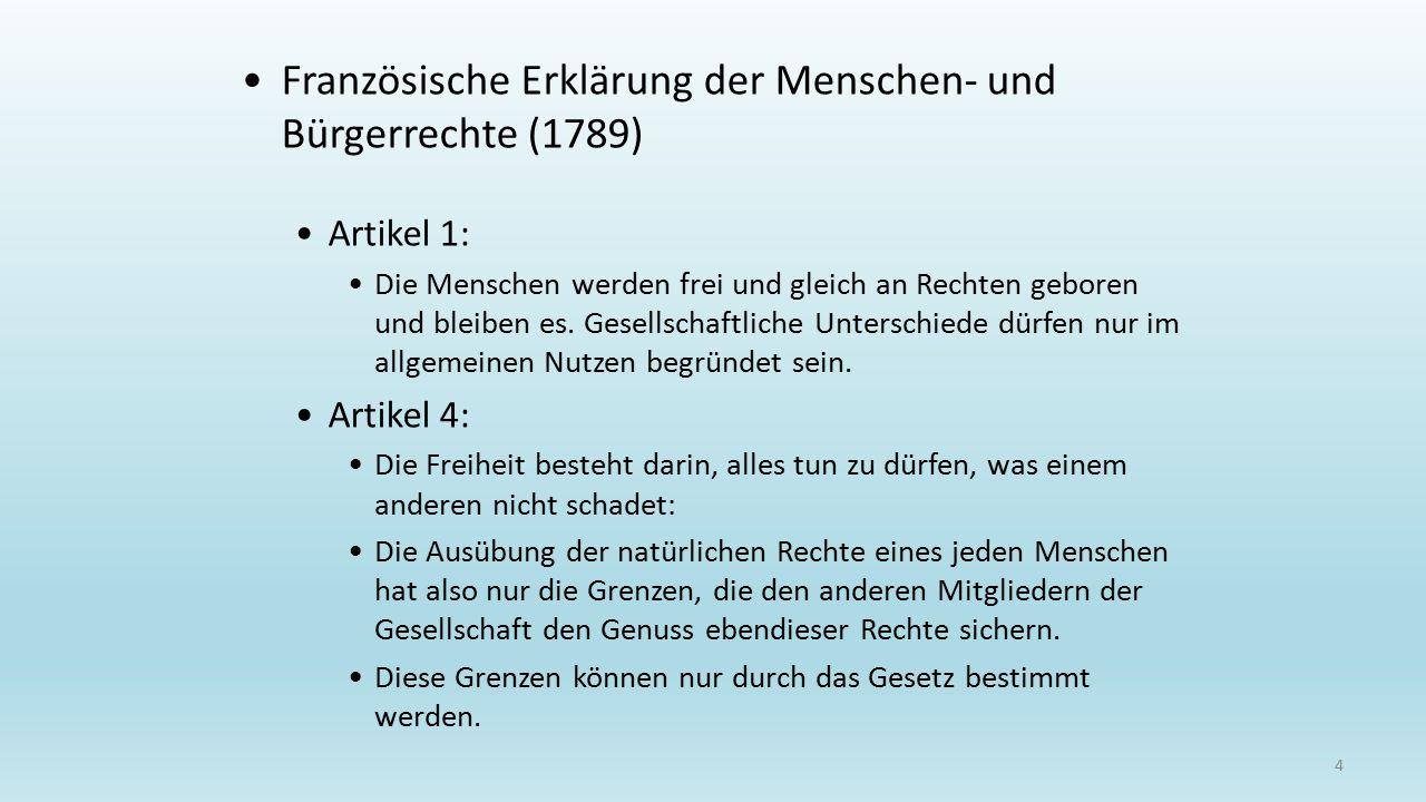 Französische Erklärung der Menschen- und Bürgerrechte (1789)