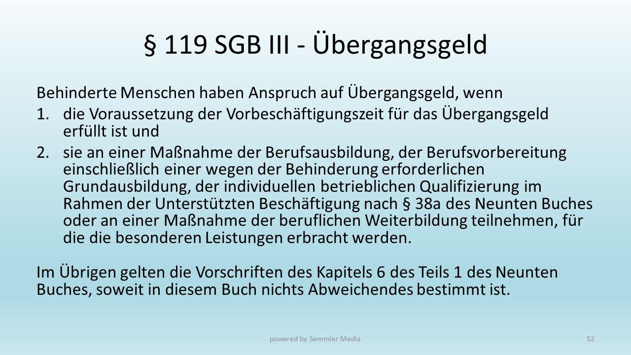 § 119 SGB III - Übergangsgeld