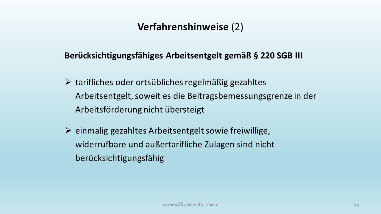 Verfahrenshinweise (2)