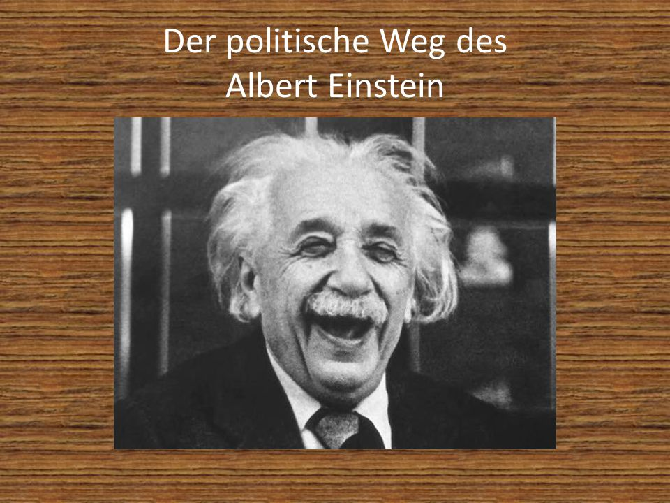 Der politische Weg des Albert Einstein