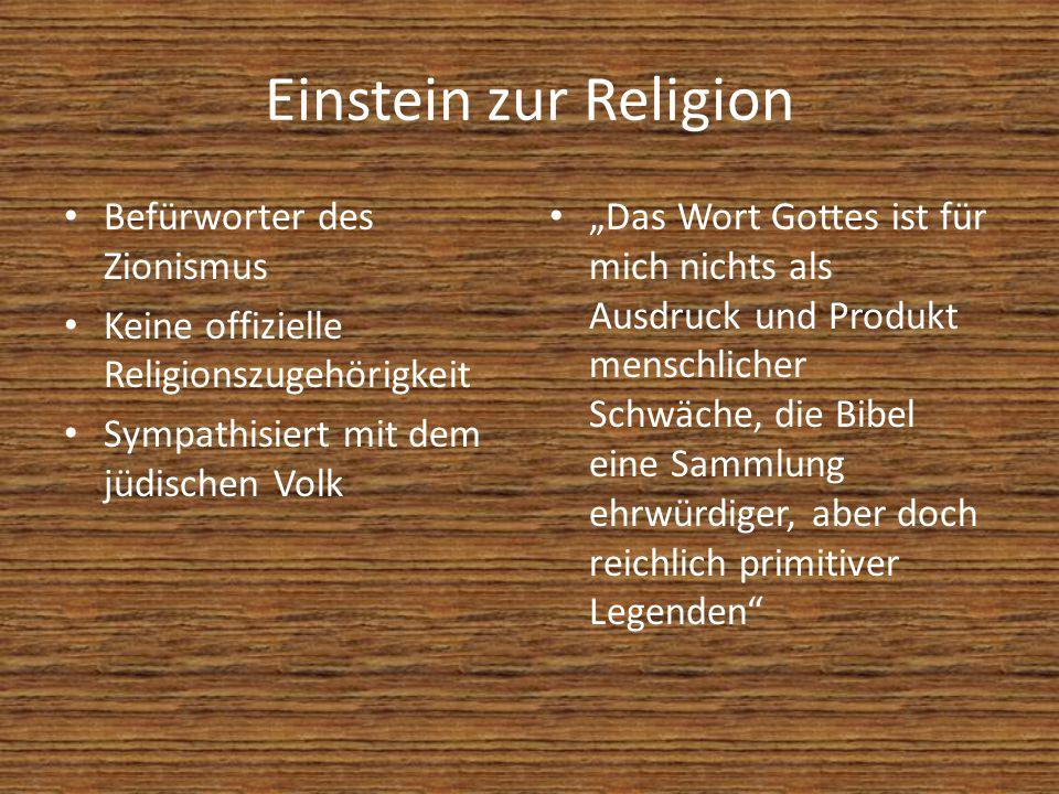 Einstein zur Religion Befürworter des Zionismus