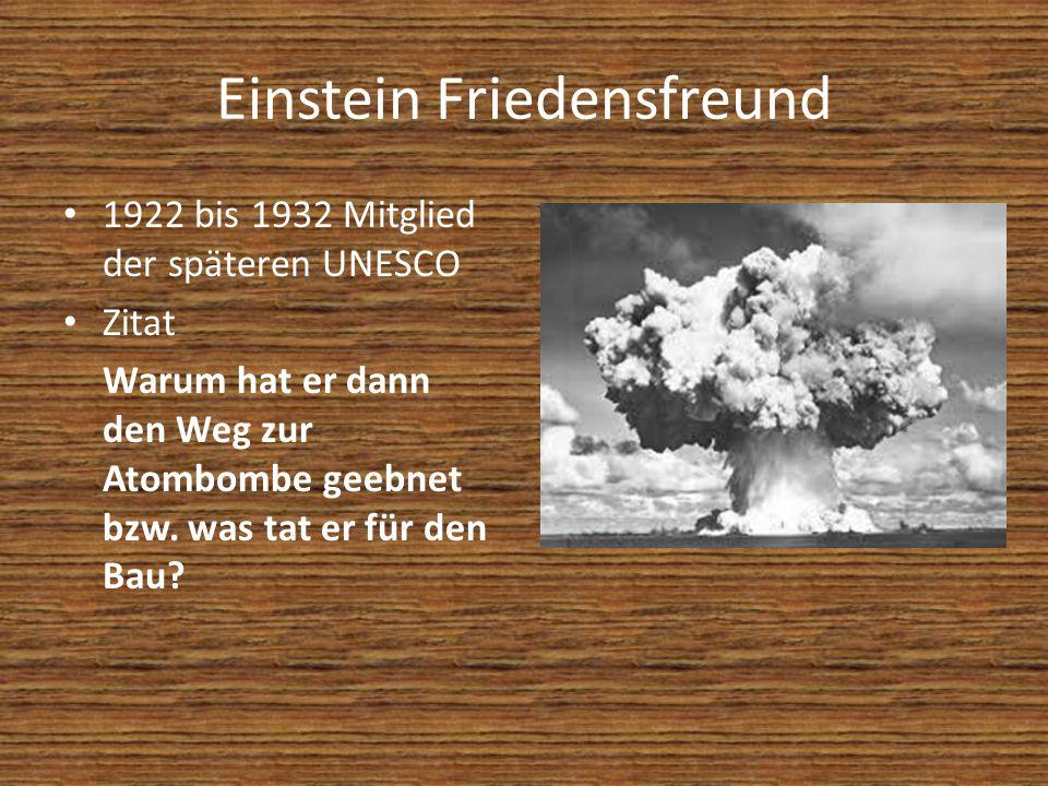 Einstein Friedensfreund