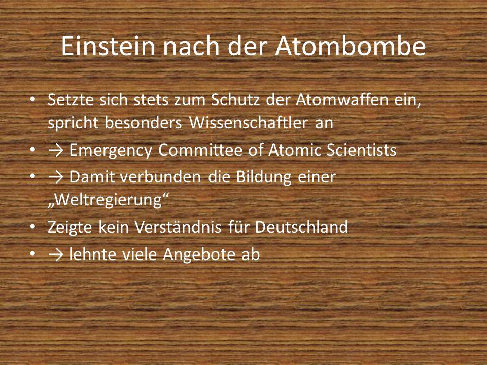 Einstein nach der Atombombe