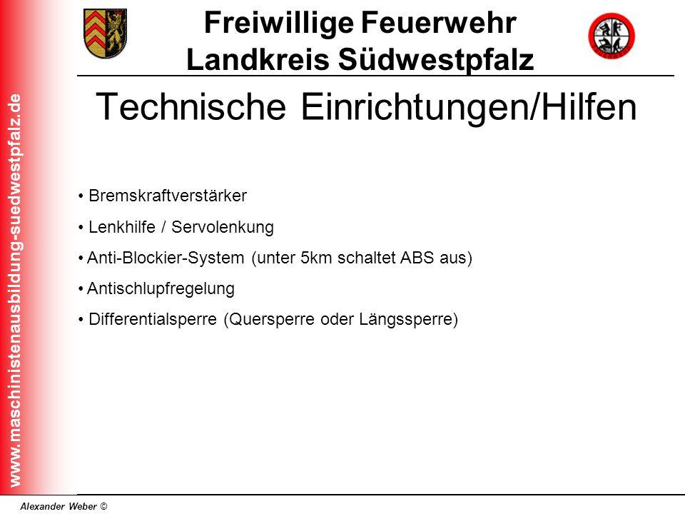 Technische Einrichtungen/Hilfen