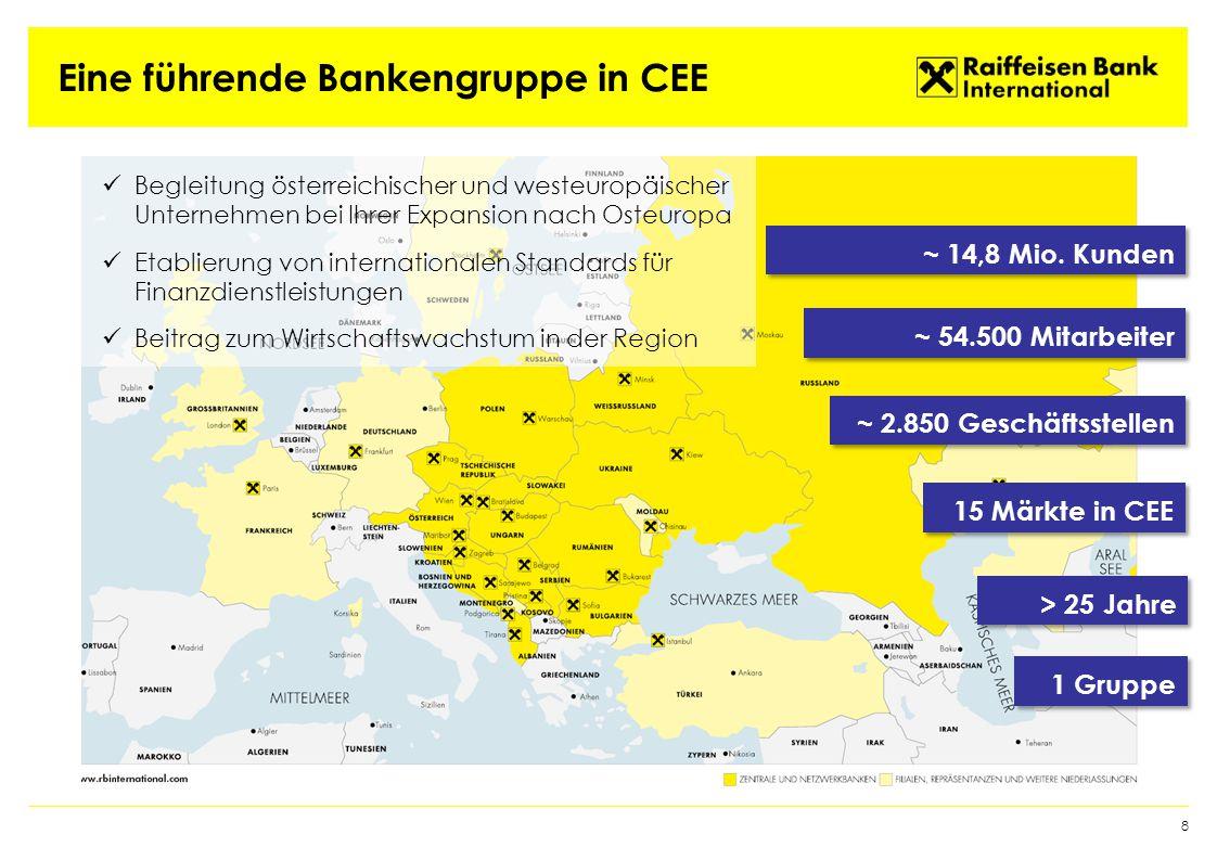 Eine führende Bankengruppe in CEE