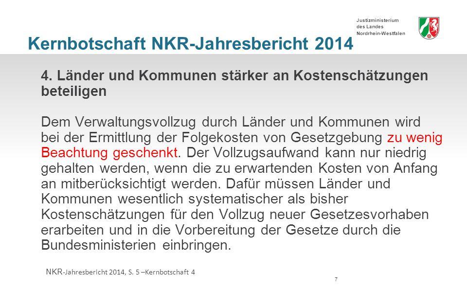 Kernbotschaft NKR-Jahresbericht 2014