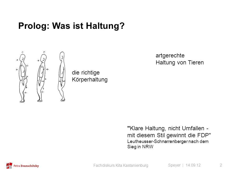 Prolog: Was ist Haltung