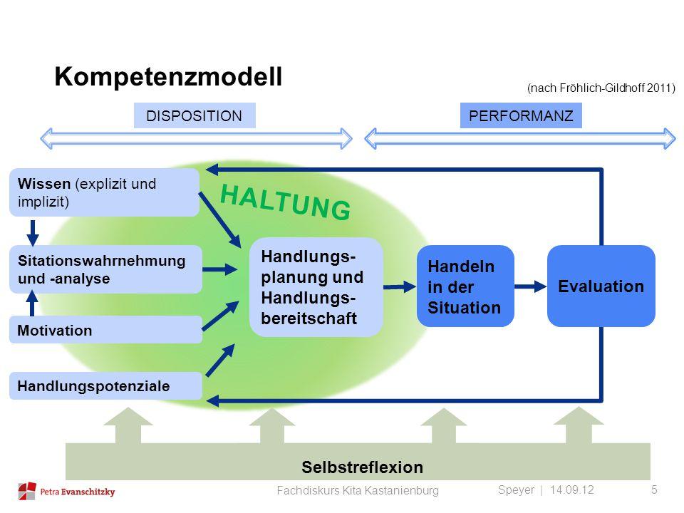 Kompetenzmodell Haltung Handlungs-planung und Handlungs-bereitschaft