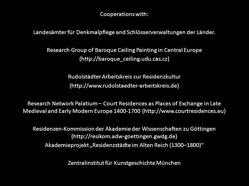 Landesämter für Denkmalpflege and Schlösserverwaltungen der Länder.