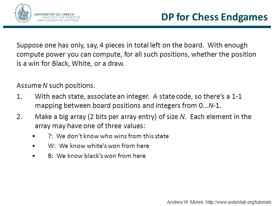 DP for Chess Endgames