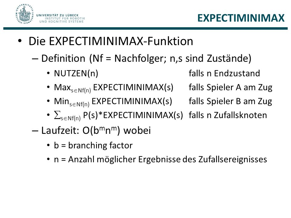 Die EXPECTIMINIMAX-Funktion